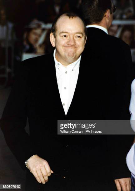 Comedian Mel Smith arriving for the UK premiere of 'Bridget Jones Diary' at the Empire in London's Leicester Square