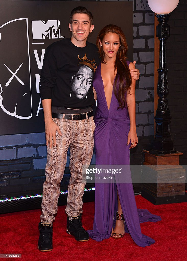 Comedian <a gi-track='captionPersonalityLinkClicked' href=/galleries/search?phrase=Melanie+Iglesias&family=editorial&specificpeople=7417582 ng-click='$event.stopPropagation()'>Melanie Iglesias</a> attends the 2013 MTV Video Music Awards at the Barclays Center on August 25, 2013 in the Brooklyn borough of New York City.