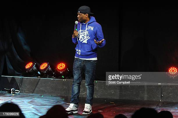 Comedian Michael Che performs during the Assembly Rooms Press Launch at The Edinburgh Festival Fringe on July 31 2013 in Edinburgh Scotland