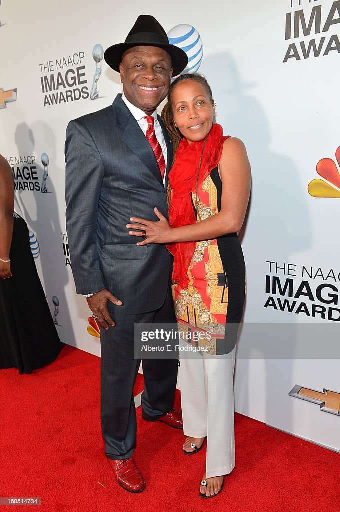Comedian Michael Colyar and guest attend the 44th NAACP Image Awards at The Shrine Auditorium on February 1, 2013 in Los Angeles, California.