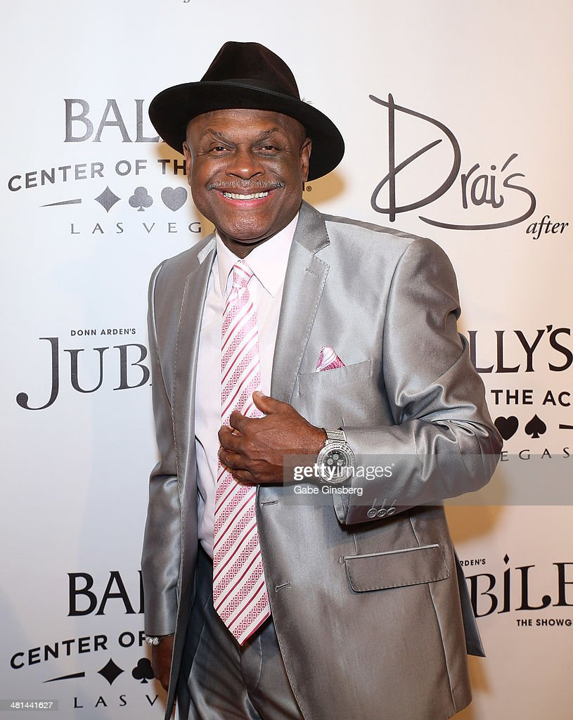 Comedian <a gi-track='captionPersonalityLinkClicked' href=/galleries/search?phrase=Michael+Colyar&family=editorial&specificpeople=778797 ng-click='$event.stopPropagation()'>Michael Colyar</a> arrives at the 'Jubilee' show's grand re-opening at Bally's Las Vegas on March 29, 2014 in Las Vegas, Nevada.