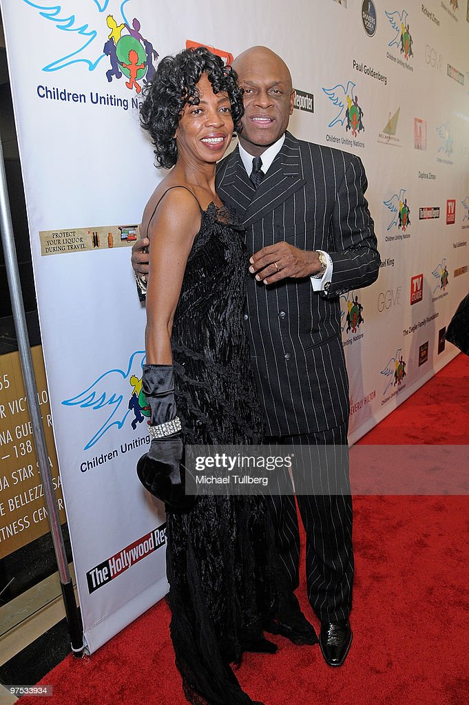Comedian Michael Colyar arrives with wife Brooks Colyar at the 11th Annual Children Uniting Nations Oscar Celebration, held at the Beverly Hilton Hotel on March 7, 2010 in Beverly Hills, California.