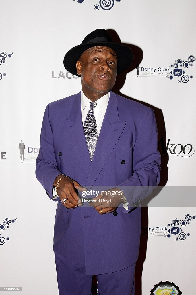 Comedian Michael Colyar poses for photos at the Harold Washington Cultural Center during the 2nd Annual Danny Clark Foundation Charity Weekend in Chicago, Illinois on MAY