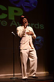 Comedian Michael Colyar speaks onstage during the 25th annual NAACP Theatre Awards press conference at The Ebony Repertory Theatre on March 6 2016 in...