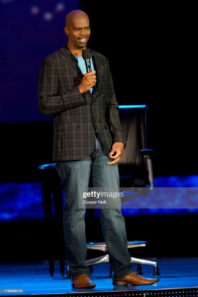 Comedian Michael Jr. speaks during a live taping of 'Oprah's Lifeclass' with Oprah Winfrey during MegaFest at the American Airlines Center on August 29, 2013 in Dallas, Texas.