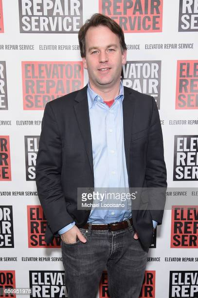 Comedian Mike Birbiglia attends the Elevator Repair Service Theater 25th Anniversary Gala at Tribeca Rooftop on May 22 2017 in New York City