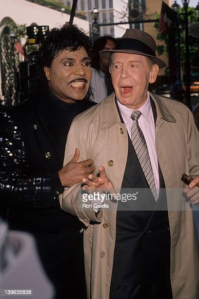 Comedian Milton Berle and musician Little Richard attending 'BMI Awards Honoring Michael Jackson' on May 8 1990 at the Beverly Wilshire Hotel in...