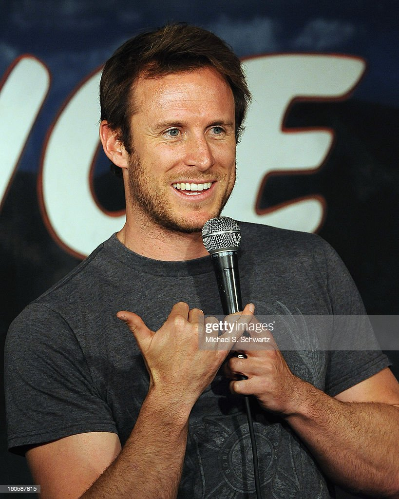 Comedian Monty Franklin performs during his appearance at The Ice House Comedy Club on February 2, 2013 in Pasadena, California.