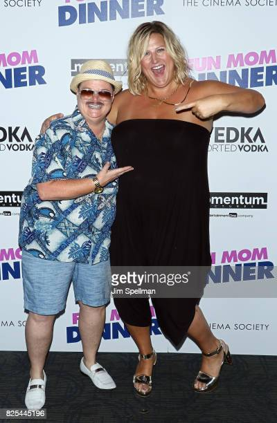 Comedian Murray Hill and actress Bridget Everett attend the screening of 'Fun Mom Dinner' hosted by Momentum Pictures with The Cinema Society and...