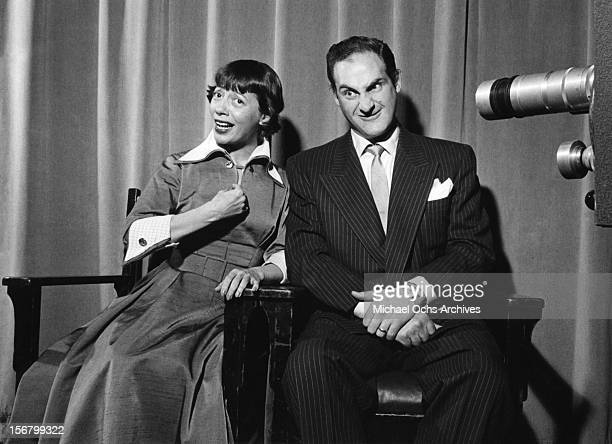 Comedian musician and television pioneer Sid Caesar and costar Imogene Coca perform a skit on 'Your Show of Shows' in May 1953 in New York City New...
