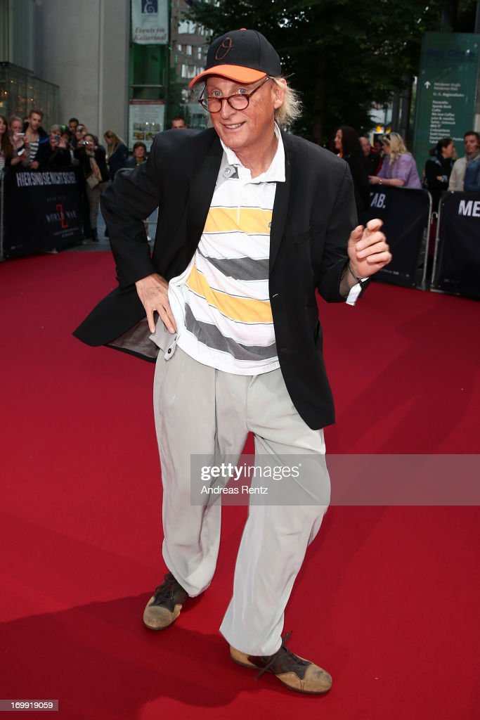 Comedian Otto Waalkes attends 'WORLD WAR Z' Germany Premiere at Sony Centre on June 4, 2013 in Berlin, Germany.
