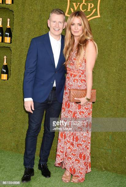 Comedian Patrick Kielty and actress/model Cat Deeley attend the 8th Annual Veuve Clicquot Polo Classic at Will Rogers State Historic Park on October...