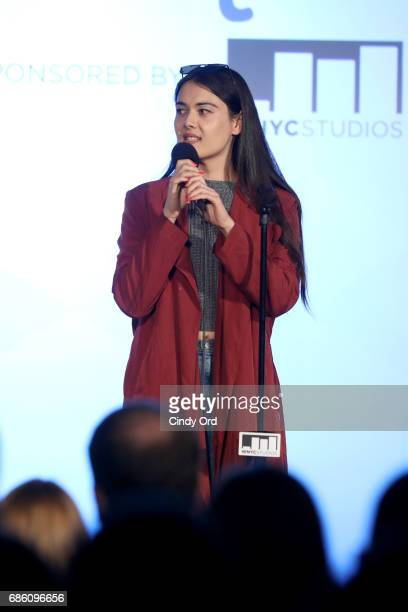 Comedian Patti Harrison speaks onstage at the 2 Dope Queens panel during the 2017 Vulture Festival at Milk Studios on May 20 2017 in New York City