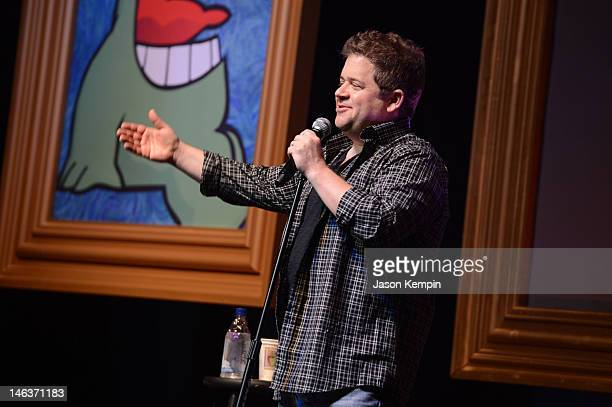 Comedian Patton Oswalt performs onstage at Patton Oswalt during TBS Just For Laughs Chicago 2012 presented by State Farm at The Vic Theatre on June...