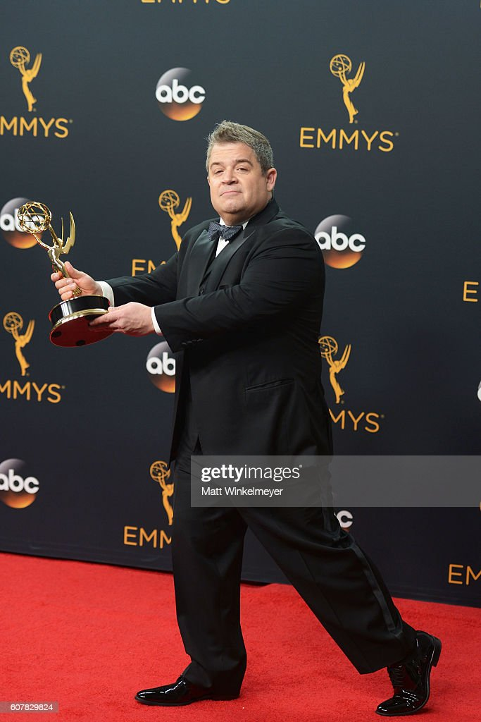 Comedian Patton Oswalt, winner of Best Writing for a Variety Special for ?Patton Oswalt: Talking for Clapping?, poses in the press room during the 68th Annual Primetime Emmy Awards at Microsoft Theater on September 18, 2016 in Los Angeles, California.