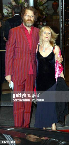 Comedian Paul Merton arrives for the 2002 Breast Cancer Care Fashion Show at the Hilton Hotel All participating models have had breast surgery