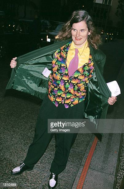 Comedian Paula Poundstone arrives at the Los Angeles chapter of Death Penalty Focus'' 10th Annual awards banquet April 4 2001 in Los Angeles CA...