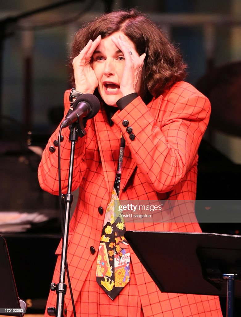 Comedian <a gi-track='captionPersonalityLinkClicked' href=/galleries/search?phrase=Paula+Poundstone&family=editorial&specificpeople=1018199 ng-click='$event.stopPropagation()'>Paula Poundstone</a> performs during A Prairie Home Companion taping at the Greek Theatre on June 7, 2013 in Los Angeles, California.