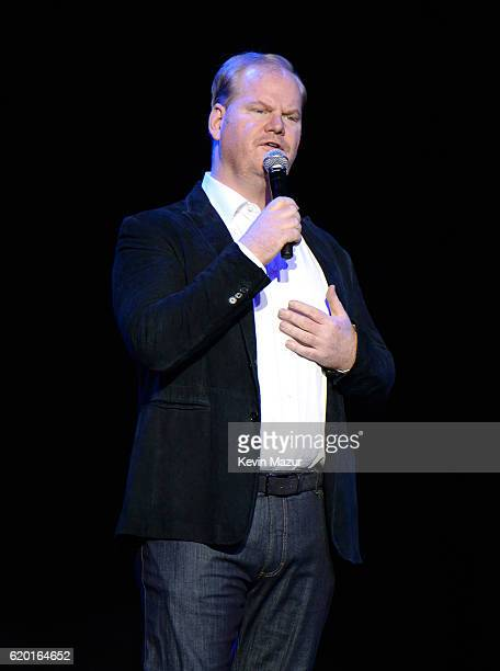 Comedian performer Jim Gaffigan performs on stage as The New York Comedy Festival and The Bob Woodruff Foundation present the 10th Annual Stand Up...