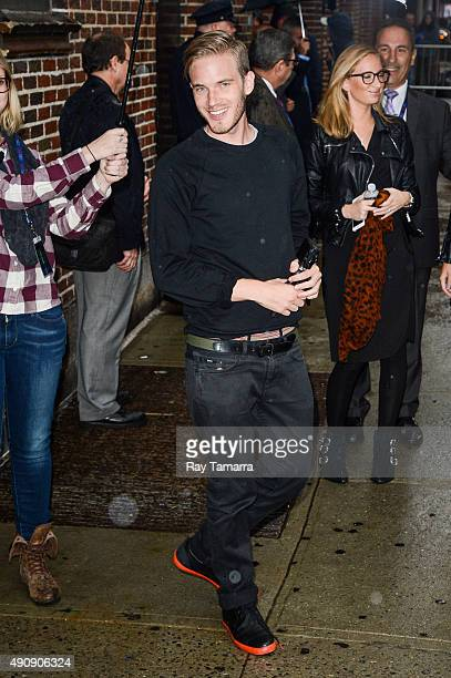 Comedian PewDiePie enters the 'The Late Show With Stephen Colbert' taping at the Ed Sullivan Theater on October 1 2015 in New York City
