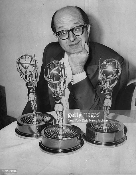 Comedian Phil Silvers eyeing his two Emmys at the WaldorfAstoria