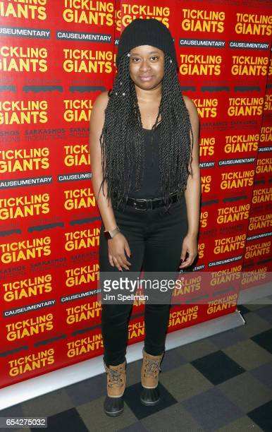 Comedian Phoebe Robinson attends the 'Tickling Giants' New York premiere at IFC Center on March 16 2017 in New York City