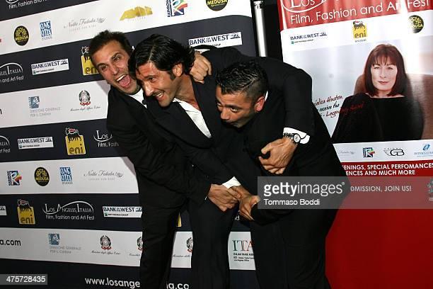 Comedian Pio D'Antini actor Walter Nudo and comedian Amedeo Grieco attend the 9th Annual LA Italia Film fashion and art's festival closing night...