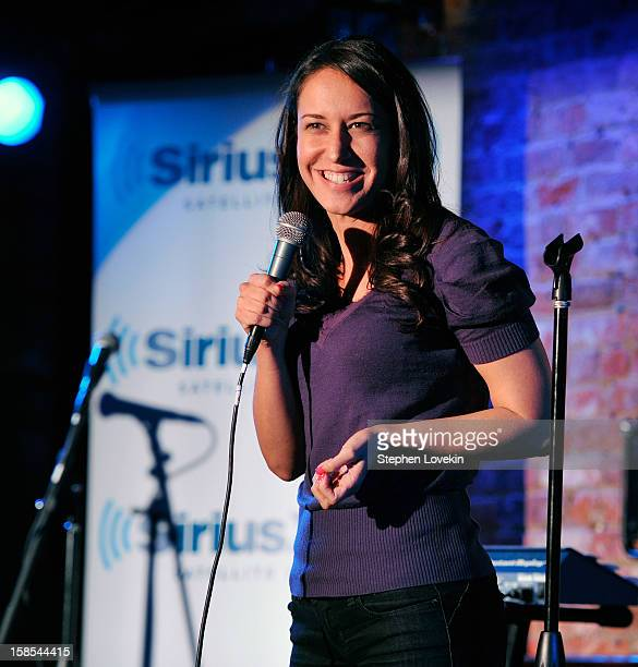 Comedian Rachel Feinstein attends comedian Tom Papa's special Christmas edition of SirusXM's 'Come To Papa' his 'Raw Dog' comedy show on SiriusXM at...