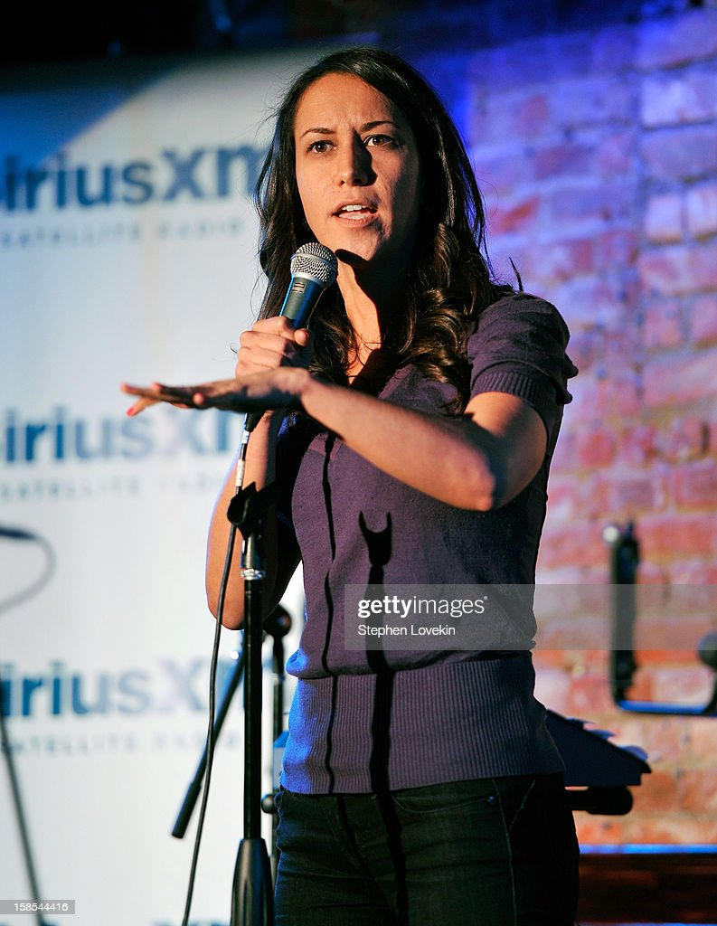 Comedian Rachel Feinstein attends comedian Tom Papa's special Christmas edition of SirusXM's 'Come To Papa' his 'Raw Dog' comedy show on SiriusXM at Village Underground on December 18, 2012 in New York City.