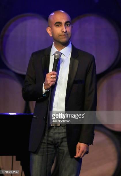 Comedian Rajiv Satyal attends the Aasif Mandvi Friends AllStar Deportation Jamboree at City Winery on April 26 2017 in New York City