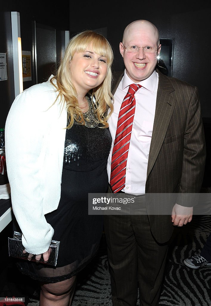 Comedian Rebel Wilson and Actor <a gi-track='captionPersonalityLinkClicked' href=/galleries/search?phrase=Matt+Lucas+-+Comedian&family=editorial&specificpeople=204202 ng-click='$event.stopPropagation()'>Matt Lucas</a> pose backstage at Variety's Power of Comedy presented by Sims 3 in Partnership with Bing at Club Nokia on December 4, 2010 in Los Angeles, California.
