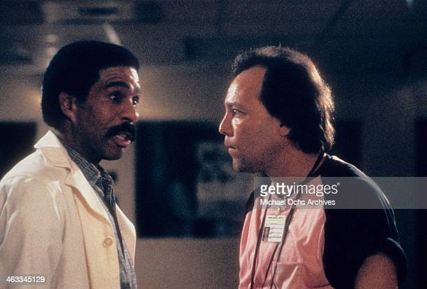 Comedian Richard Pryor and Ruben Blades in a scene from the movie 'Critical Condition' which was released on June 16 1987