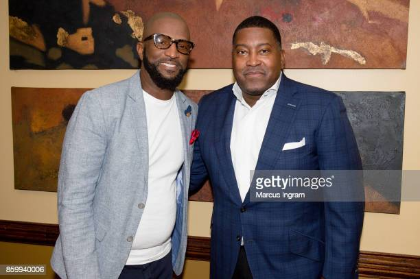 Comedian Rickey Smiley and Dr E Dewey Smith attends The House Of Hope Atlanta on October 8 2017 in Decatur Georgia