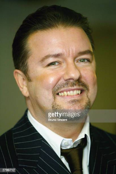 Comedian Ricky Gervais arrives at the British Comedy Awards 2003 on December 10 2003 at London Television Studios in London