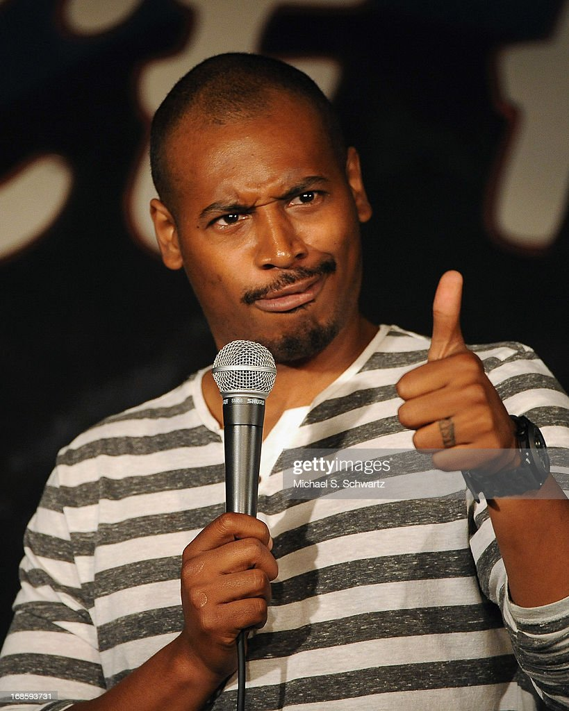 Comedian Rivest Dunlap performs during his appearance at The Ice House Comedy Club on May 11, 2013 in Pasadena, California.