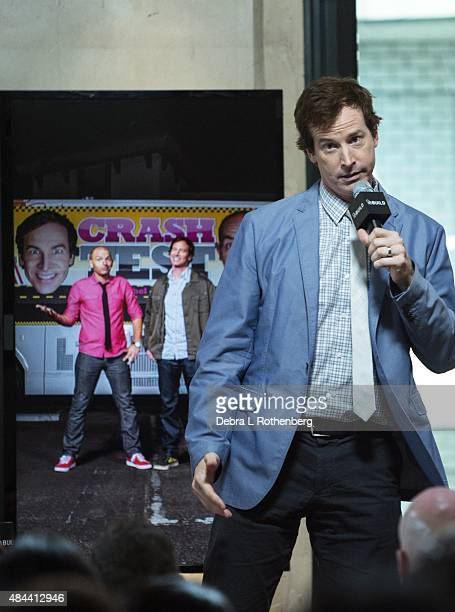 Comedian Rob Huebel speaks at AOL Build Speakers Series Present'Crash Test' at AOL Studios In New York on August 18 2015 in New York City