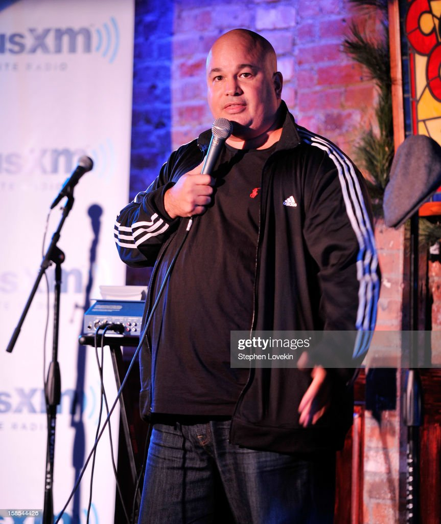 Comedian <a gi-track='captionPersonalityLinkClicked' href=/galleries/search?phrase=Robert+Kelly+-+Comedian&family=editorial&specificpeople=14698365 ng-click='$event.stopPropagation()'>Robert Kelly</a> attends comedian Tom Papa's special Christmas edition of SirusXM's 'Come To Papa' his 'Raw Dog' comedy show on SiriusXM at Village Underground on December 18, 2012 in New York City.