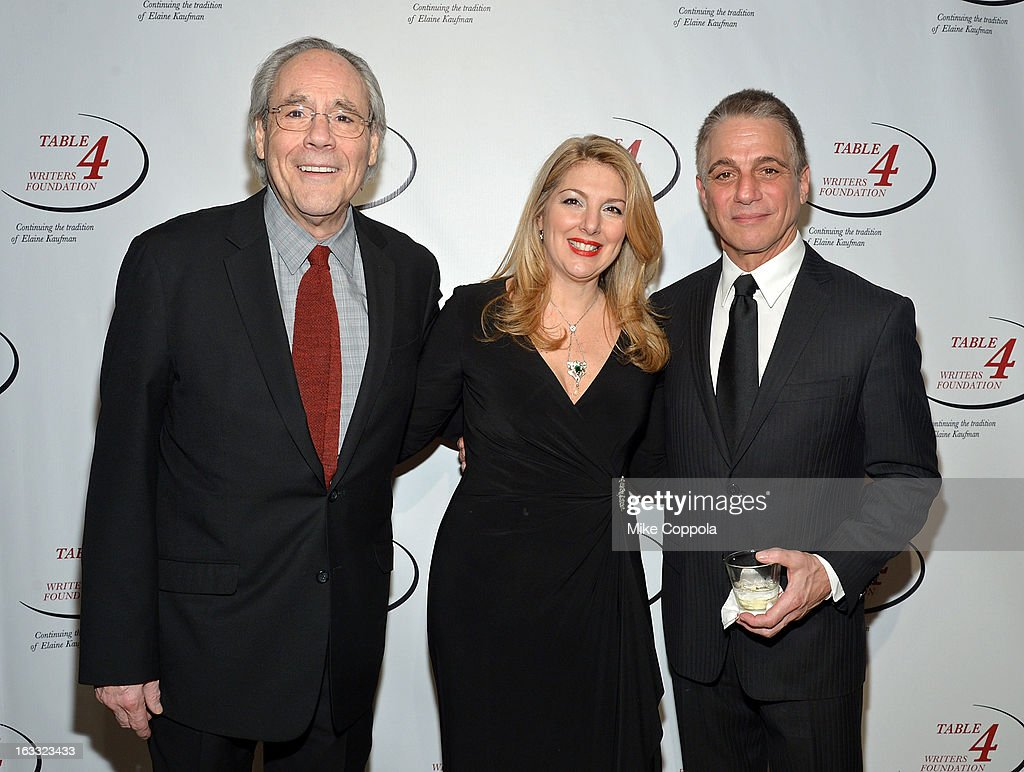 Comedian Robert Klein, Table 4 Writers Foundation Chair, Jenine Lepera Izzi and actor Tony Danza attend the Table 4 Writers Foundation 1st Annual Awards Gala on March 7, 2013 in New York City.
