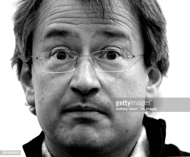 Comedian Robin Ince speaks at an atheist campaign launch in Kensington Gardens London The UK's first ever atheist campaign is launched today as the...