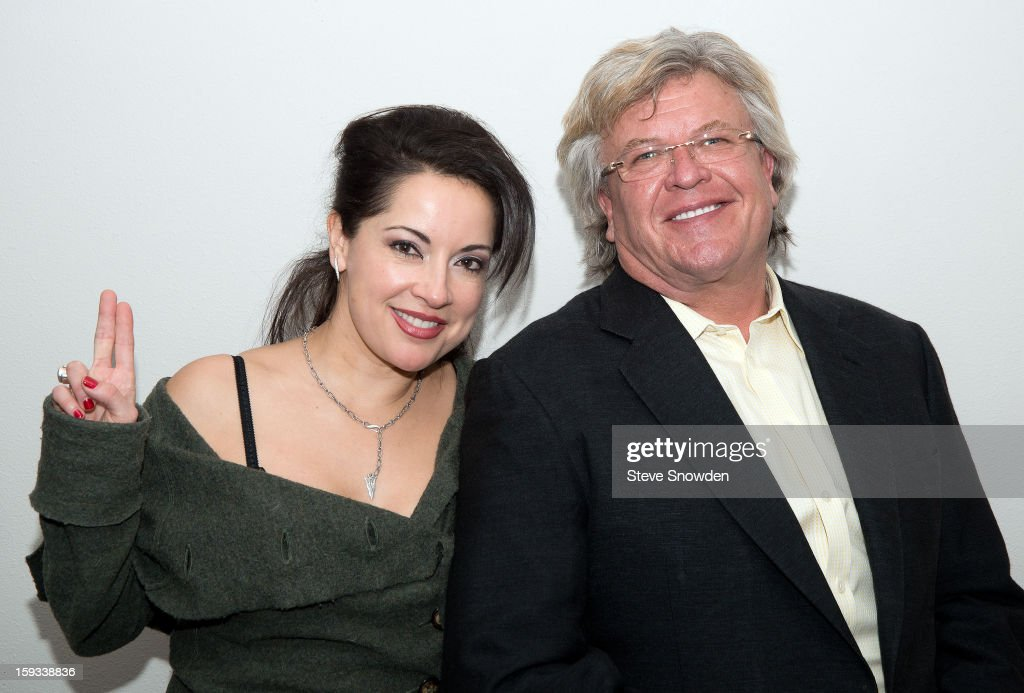 Comedian Ron White poses backstage with his wife Margo Rey following his performance at Route 66 Casino's Legends Theater on January 11, 2013 in Albuquerque, New Mexico.