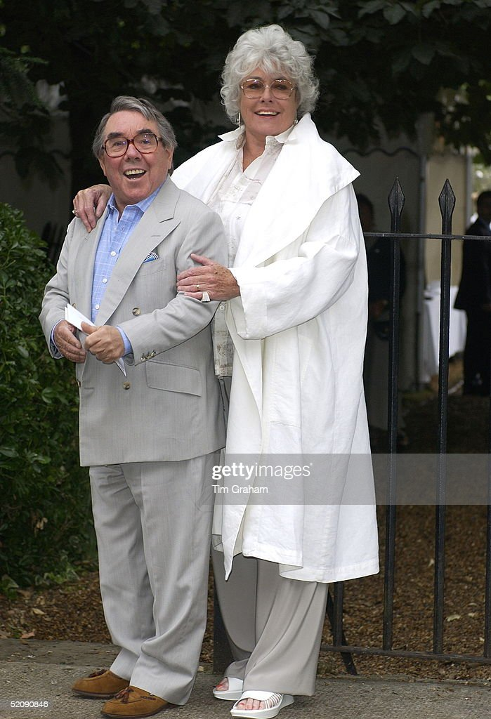 Comedian Ronnie Corbett And His Wife Join Other Celebrities For A Party In Carlyle Square In Fashionable Chelsea