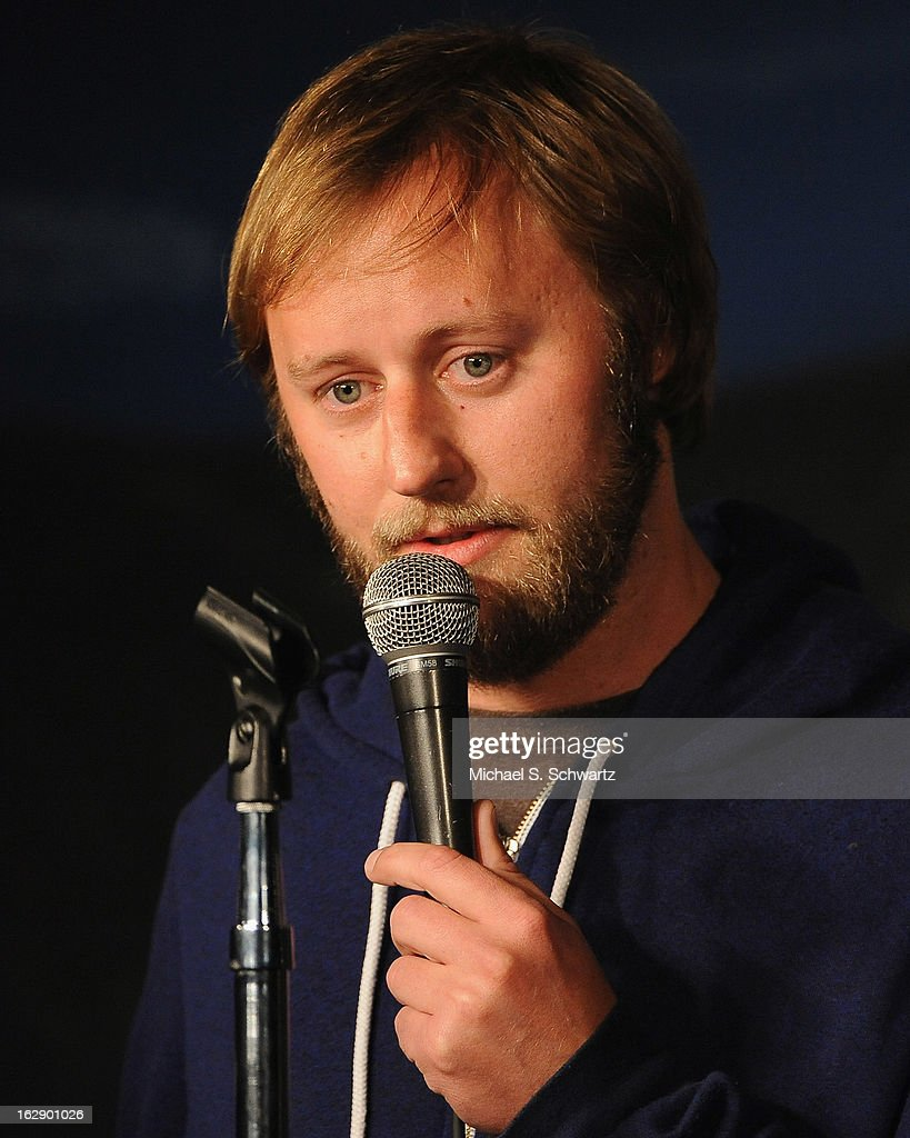 Comedian Rory Scovel performs during his appearance at The Ice House Comedy Club on February 28, 2013 in Pasadena, California.