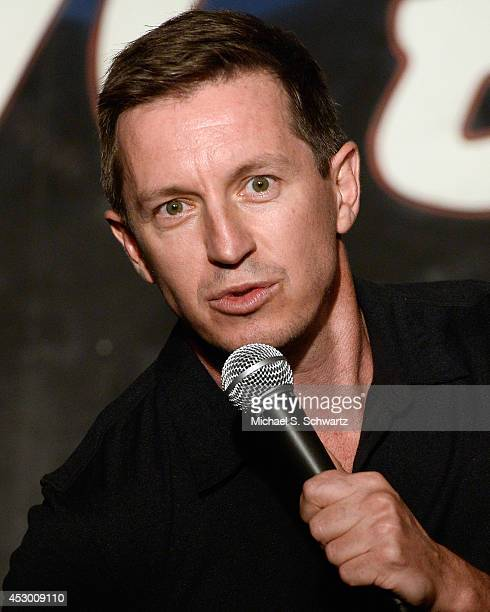 Comedian Rove McManus performs during his appearance at The Ice House Comedy Club on July 25 2014 in Pasadena California