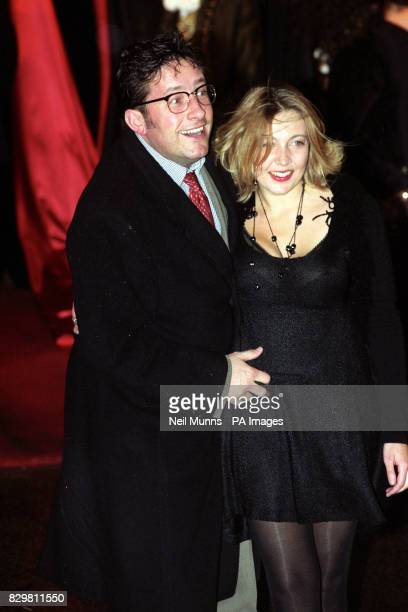 Comedian Rowland Rivron known for his character 'Dr Scroat' and as a member of 'Raw Sex' arrives at the film premiere of 'Interview With A Vampire'...
