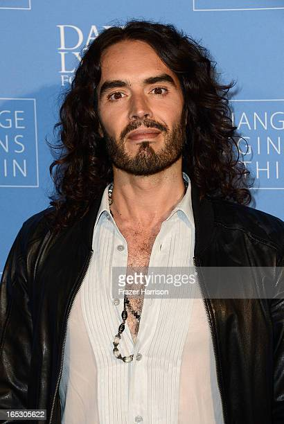 Comedian Russell Brand attends the 'Meditation In Education' Global Outreach Campaign at The Billy Wilder Theater at the Hammer Museum on April 2...