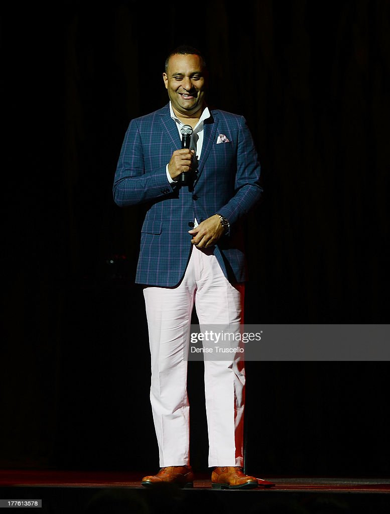 Comedian <a gi-track='captionPersonalityLinkClicked' href=/galleries/search?phrase=Russell+Peters&family=editorial&specificpeople=2090934 ng-click='$event.stopPropagation()'>Russell Peters</a> performs live at the Pearl concert theater at Palms Casino Resort on August 24, 2013 in Las Vegas, Nevada.