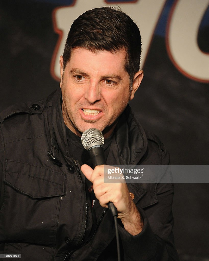 Comedian Sam Tripoli performs during his appearance at The Ice House Comedy Club on January 3, 2013 in Pasadena, California.