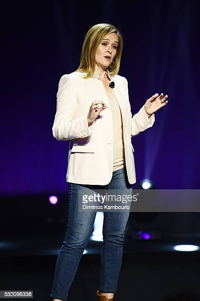 Comedian Samantha Bee appears on stage during the Turner Upfront 2016 show at The Theater at Madison Square Garden on May 18 2016 in New York City