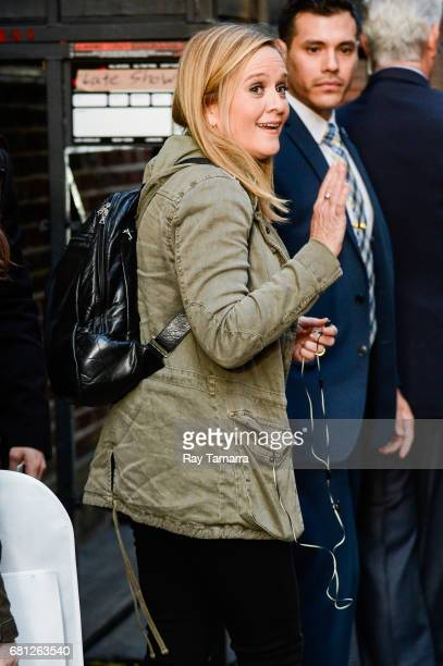 Comedian Samantha Bee leaves the 'The Late Show With Stephen Colbert' taping at the Ed Sullivan Theater on May 09 2017 in New York City
