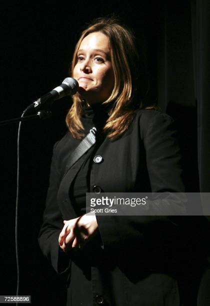 Comedian Samantha Bee performs onstage during a concert to celebrate the 10 year anniversary of 'The Daily Show With Jon Stewart' at Irving Plaza on...